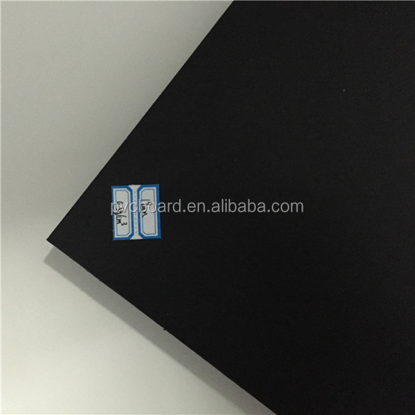 rigid glossy 19mm black PVC foam sheet