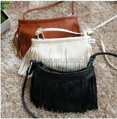FRINGED SMALL CROSS BODY SUEDE TASSEL TOTE BAG