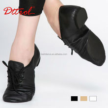 D004715 Dttrol split sole lace up women flat dance jazz shoes