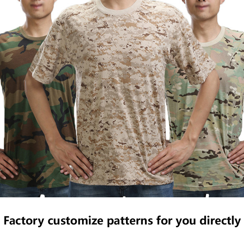 Wholesale Dry Fit Military Digital woodland Camo Men's TShirts