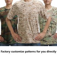 Wholesale Dry Fit Military Digital woodland Camo Men's TShirts