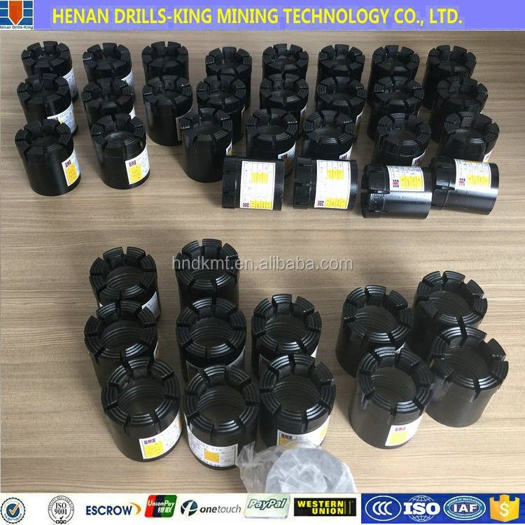 diameter 76 wire-line impregnated core bit (NQ) geological drill