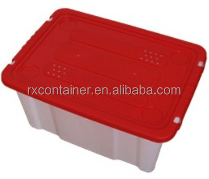Laundry box plastic storage container with plastic crate mold