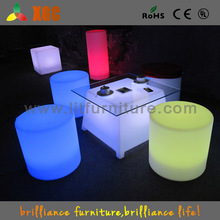 color changing led cube table/glowing led drinking table