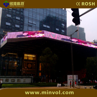 Super Bright Outdoor Glass Window Led Display / Outdoor Full Color LED Signs