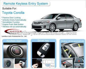 Passive Keyless Entry System For Toyota Corolla
