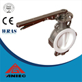 Midline type cast iron material hand lever water butterfly valve