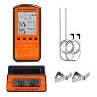 Wireless Digital Meat Thermometer With Temperature Probe For Oven Smoker Grill BBQ