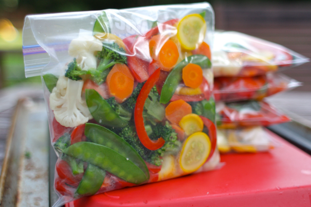 Vacuum bags for packing of process/ fresh cut vegetables