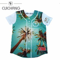 wholesale oem sublimated button down baseball jersey custom