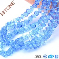 2015 Wholesale Cube Beads Corner Drill Blue Crystal Loose Beads