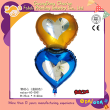 Promotional products foil metalic color heart shape balloons