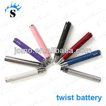 2012 no flame and elegant design ego twist with Variable voltage e cigarette ego battery