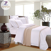 China Supplier High Quality Embroidered 5cm Overlap Hotel Linen 4pcs Hotel Turkish Bedding Set