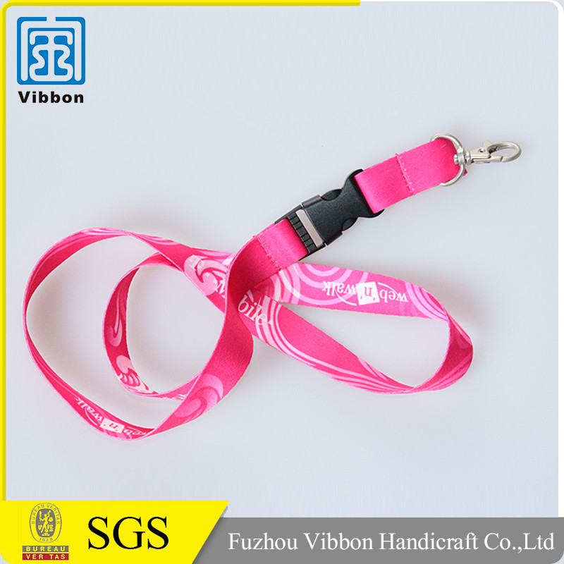 Polyester lanyard sublimation printing with custom logo for promotional event