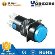 16mm led illuminated alternated pushbutton switch