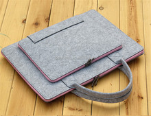 Cheap dyed clutch felt bag/felt bag wool/felt laptop bag