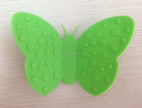 2015 cute silicone butterfly clip for heat resistant
