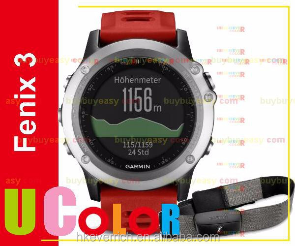 Genuine New Garmin Fenix 3 GPS Watch with HRM-RUN Silver / Red Not Ship To US & CANADA