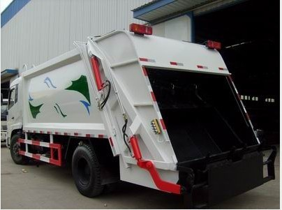 new power wheel garbage truck/12 m3 compression garbage truck