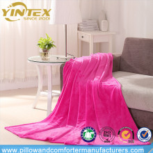Wholesale premium quality sofa throw 100% polyester coral fleece blanket