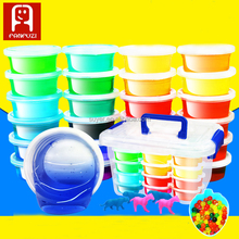 wholesale 12 color modeling crystal slime toys magic colorful crystal clay