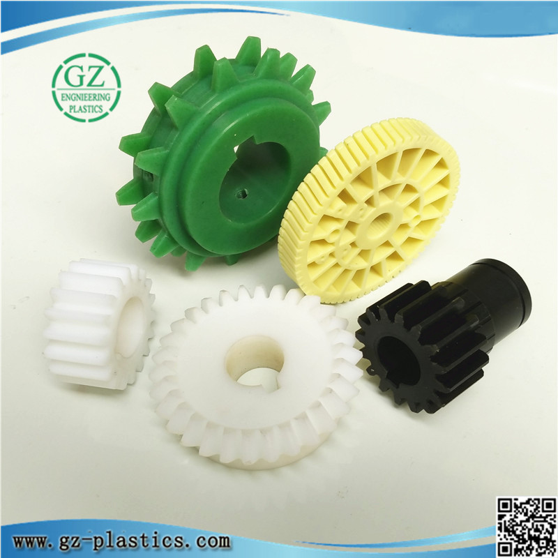 engineering plastic injection molding colored NYLATRON nylon small worm plastic gears