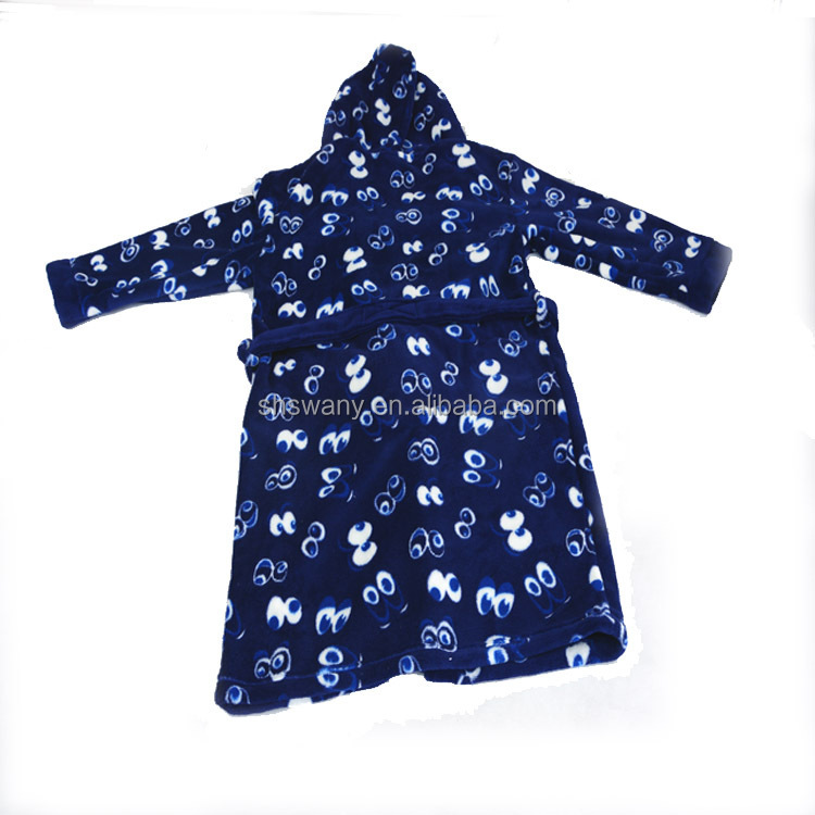 100%Polyester Hooded Bathrobe