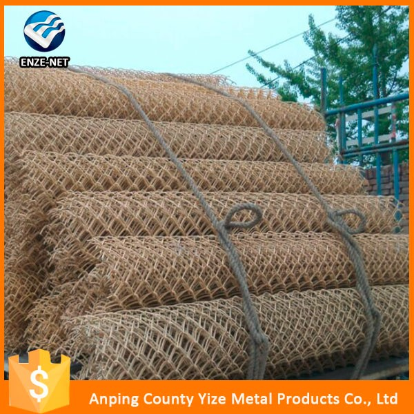 High quality steel material 9 gauge chain link fence