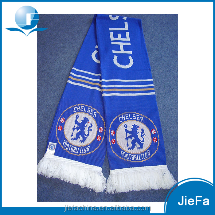 Factory Price National Flag Scarf,Soccer Club Kintted Fans Scarf,Jacquard Football Scarf Soccer Fan Club Scarf