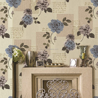 America style 3d flower wallpaper handmade wallpaper from manufacuters