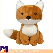 High Quality Living Nature sitting fox plush stuffed ox toy