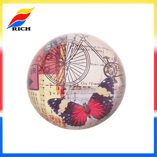 Hot sale butterfly glass ball paperweight