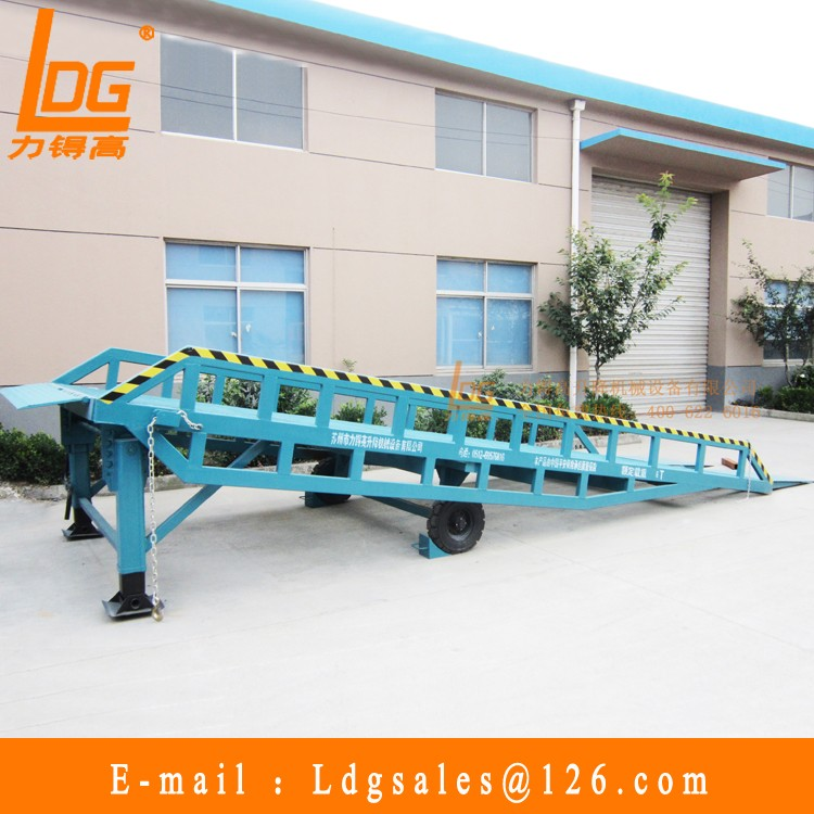 12 tons Hydraulic mobile dock ramp with DCQY12-0.8