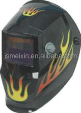 Auto darkening solar powered air welding helmet