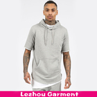 round bottom short sleeve hoodie for man