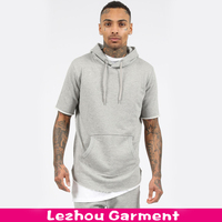 Round Bottom Short Sleeve Hoodie For