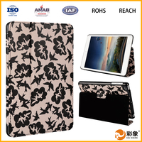 2016 new hot selling leather flip tablet case with stand for iPad 6