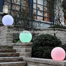 Wholesale Solar powered Lighting Waterproof plastic LED Ball with 16 Colors Change by Control