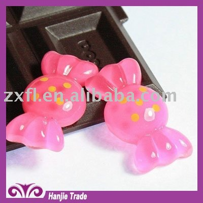 DIY sweet candy flat back resin rhinestone cabochon for children's hair charms