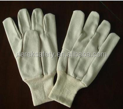 CE En388 Cotton Drill Wing Thumb Knitted Wrist Multipurpose Gloves