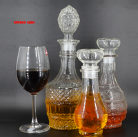 Glass wine decoration container /bottle