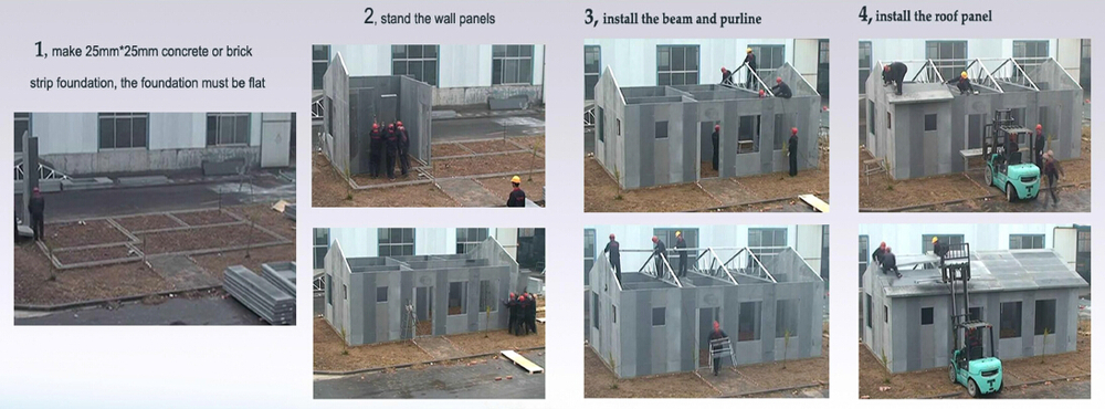 2015 Simple Low Cost Prefabricated Steel Frame House Buy