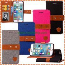 4 Colors Cowboy Flip Wallet Leather Case For Iphone 6 6s
