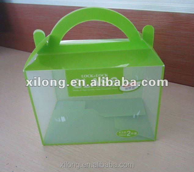 factory price custom clear hard plastic storage box with hanger, plastic folding box