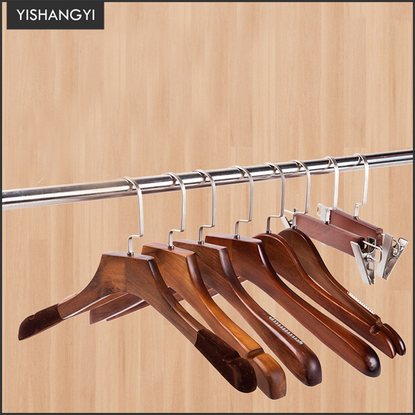 wholesale cheap wooden clothes coat suit custom hanger wood hangers for clothes