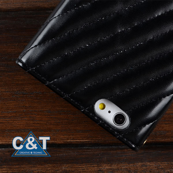 C&T Premium card holder luxuary bling diamond rhinestone wallet leather case for iphone6