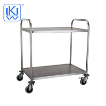 UKW Kitehenwares Stainless Steel Two-layers Restaurant Kitchen Food Trolley Cart