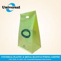 LDPE/HDPE Plastic clothes shopping bags with die cut handle