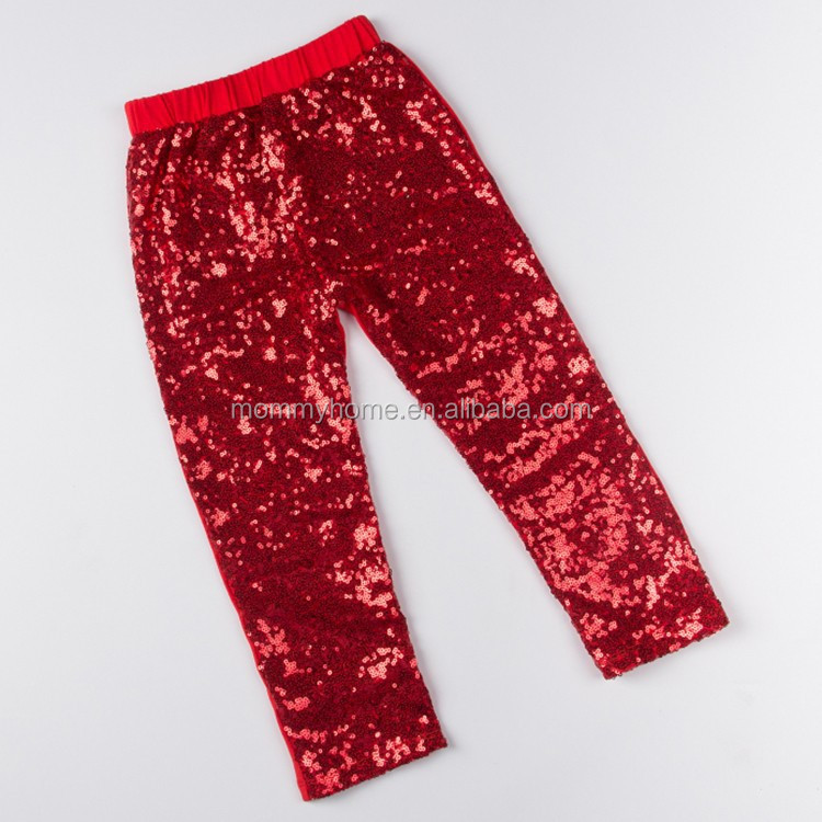 New arrival boutique shiny red sequin young sexy girl pants M5070603